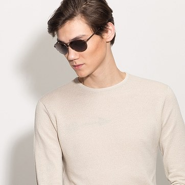 Brown Everett -  Metal Sunglasses - model image