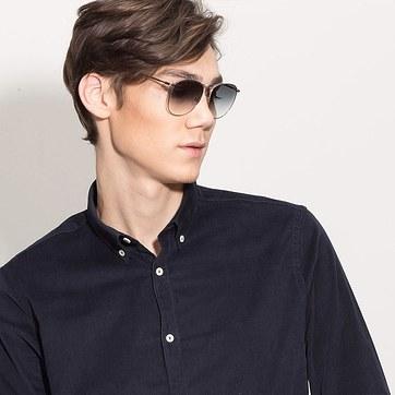 Silver Fume -  Metal Sunglasses - model image