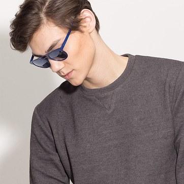 Blue Playground -  Metal Sunglasses - model image