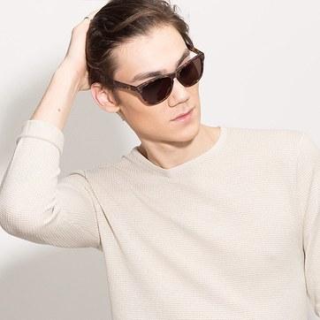 Brown/Tortoise Malibu -  Acetate Sunglasses - model image