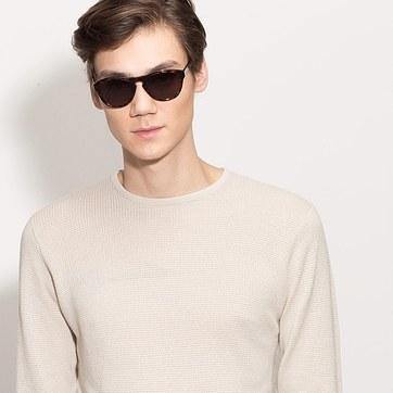 Black Barcelona -  Plastic Sunglasses - model image