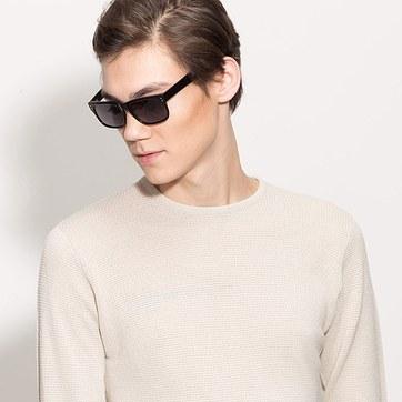 Black  Baltimore -  Acetate Sunglasses - model image