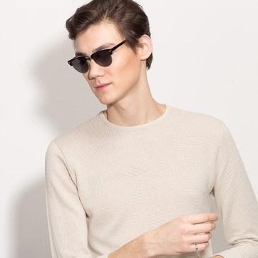 Black/Golden The Hamptons -  Acetate Sunglasses - model image