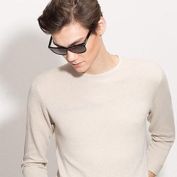 Black Palermo -  Acetate Sunglasses - model image