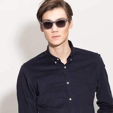 Clear Floral Hanoi -  Acetate Sunglasses - model image