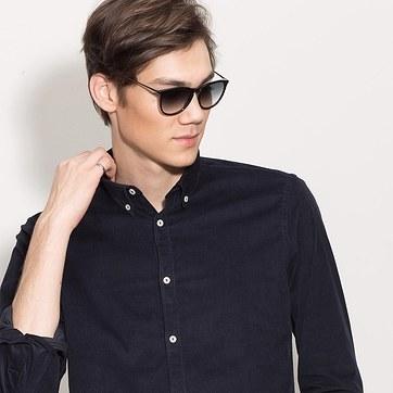 Black  Interlude -  Acetate Sunglasses - model image