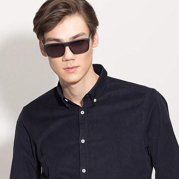 Matte Black Perth -  Acetate Sunglasses - model image