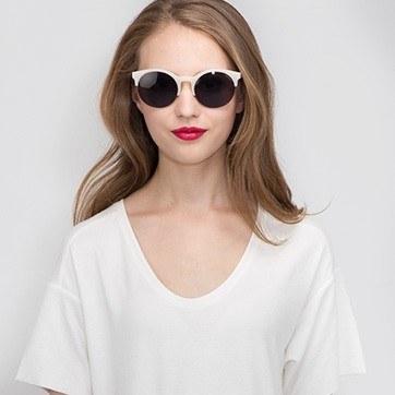 Ivory Verona -  Acetate Sunglasses - model image
