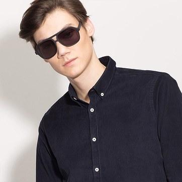 Matte Black Vegas -  Acetate Sunglasses - model image