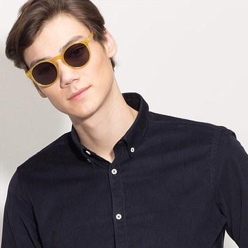 Yellow Decadent -  Acetate Sunglasses - model image