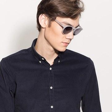 Matte White Decadent -  Acetate Sunglasses - model image