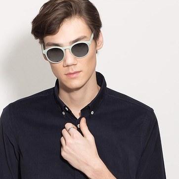 Light Green Decadent -  Acetate Sunglasses - model image