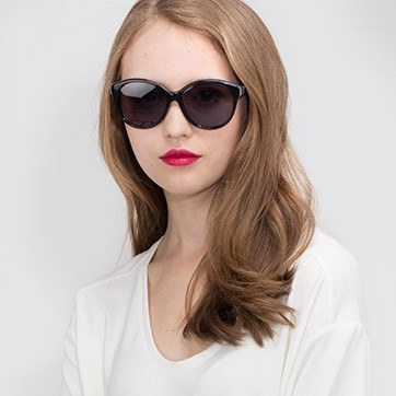 Dark Gray Stella -  Acetate Sunglasses - model image