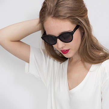 Gray Velour -  Acetate Sunglasses - model image