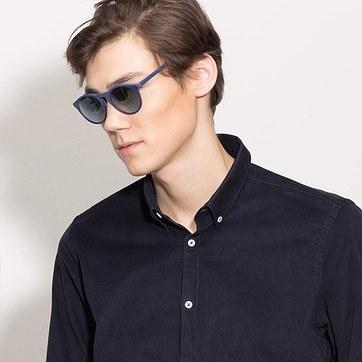 Matte Navy Air -  Acetate Sunglasses - model image