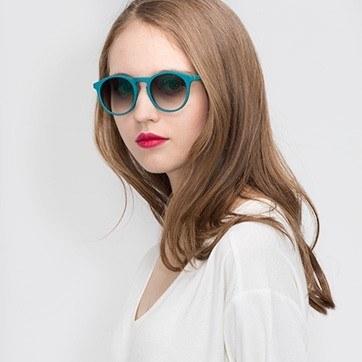 Matte Green Air -  Acetate Sunglasses - model image