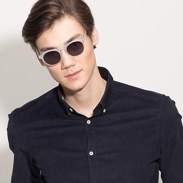 Matte Clear Air -  Acetate Sunglasses - model image