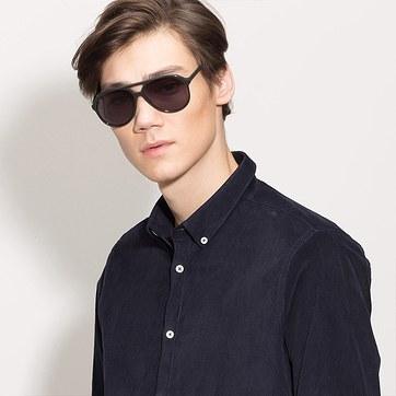 Dark Green Jakarta -  Acetate Sunglasses - model image