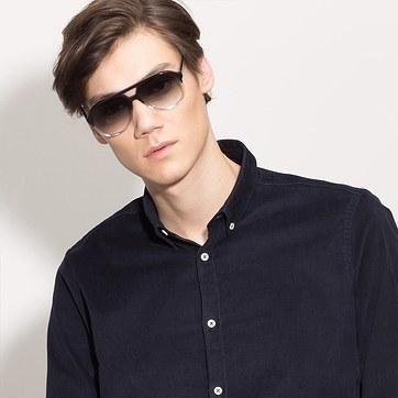 Black Clear Jakarta -  Acetate Sunglasses - model image
