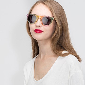 Yellow  Sunset -  Plastic Sunglasses - model image