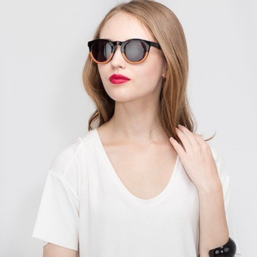 Black Sunset -  Plastic Sunglasses - model image
