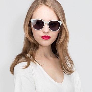 Light Green Terracotta -  Metal Sunglasses - model image
