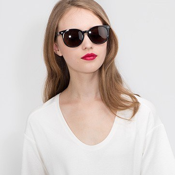 Black Meraki -  Acetate Sunglasses - model image