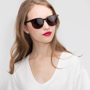 Floral Meraki -  Acetate Sunglasses - model image