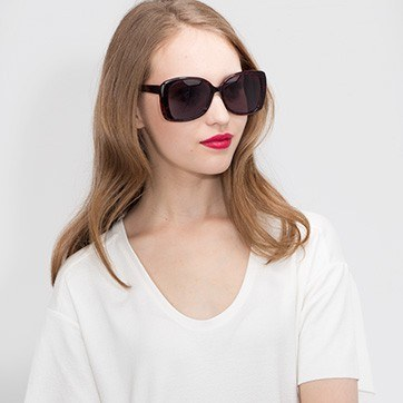 Black Red Marilyn -  Acetate Sunglasses - model image