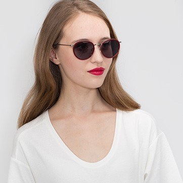 Red Sun Tea -  Acetate Sunglasses - model image