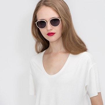 PInk Sun Tea -  Acetate Sunglasses - model image