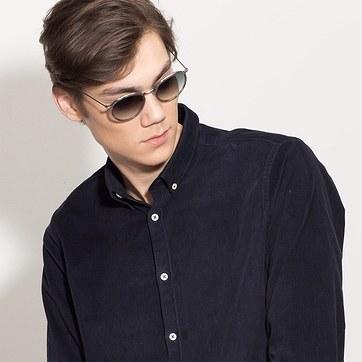 Blue Clear  Sun Tea -  Acetate Sunglasses - model image