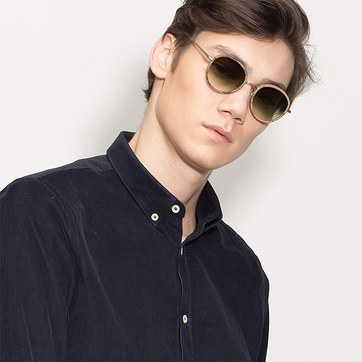 Brown Cactus -  Acetate Sunglasses - model image