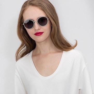 Green Cactus -  Acetate Sunglasses - model image
