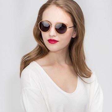 Orange Cactus -  Acetate Sunglasses - model image