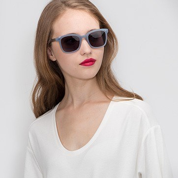 Blue Peach -  Acetate Sunglasses - model image